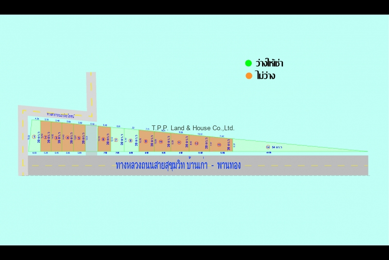 ที่ดินให้เช่า 20-50 วา ติดถนน บ้านเก่า-พานทอง จ.ชลบุรี